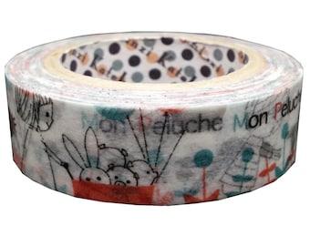 Mon Peluche  Japanese Washi Tape Masking Tape  Shinzi Katoh  Price depends on order volume. ks-mt-10275
