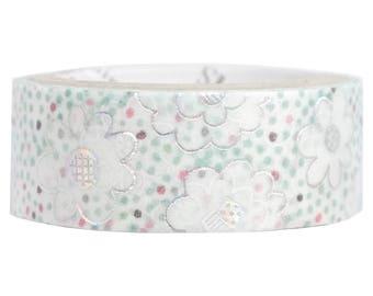 Glass Beads Silver Glitter Japanese Washi Tape Shinzi Katoh Design (ks-dt-10045) Price depends on order volume.