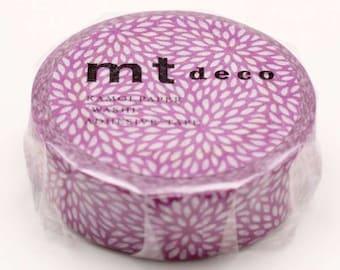 mt ex  Chrysanthemum Pattern Japanese Washi Tape Masking Tape   Price depends on order volume. MT01D414