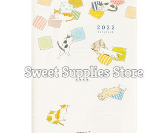 2022 Midori Cat Planner Diary Schedule Book Flat Rate Shipping