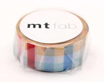 mt fab Block Check Japanese Washi Tape Masking Tape  Price depends on order volume. MTDSPR03