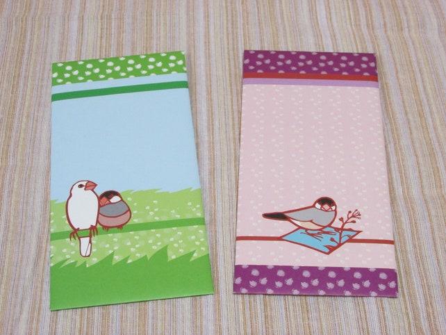 Yukie Sato Letter Set Java Sparrow