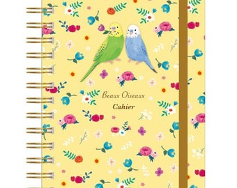 Budgie Budgerigar Parakeet Notebook with Rubber Band (NB-6445) Price depends on order volume.