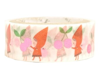 Red Hood Cherry Pink Glitter Japanese Washi Tape Shinzi Katoh Design (ks-dt-10029) Buy other items together for BETTER price.