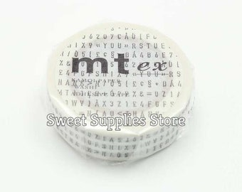 mt ex Letter String Character String Japanese Washi Tape MTEX1P123  Flat Rate Shipping