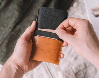 """Wallet for iPhone 8, Card Wallet, suits iPhone 7/ 6(S), leather, wool felt, """"Kangaroo"""""""