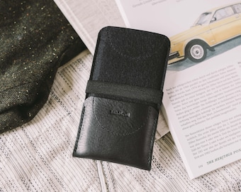 """Case Wallet for iPhone SE, iPhone 5S, leather, wool felt, """"Kangaroo"""""""