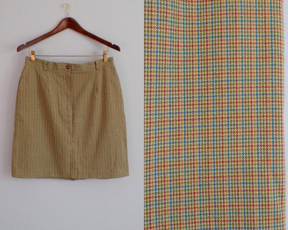 Vtg 90s LIZSPORT micro Houndstooth Skirt  ||  MEDI