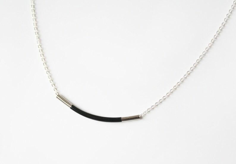 Black bar necklace image 1
