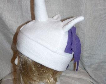 Rarity - White and Purple Unicorn Hat - My Little Pony Inspired