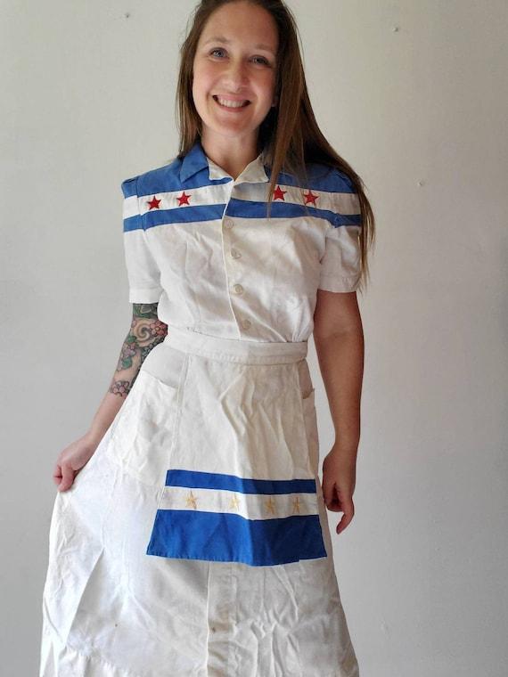 Vintage 1940s 50s Waitress Uniform • Waitress Dre… - image 4