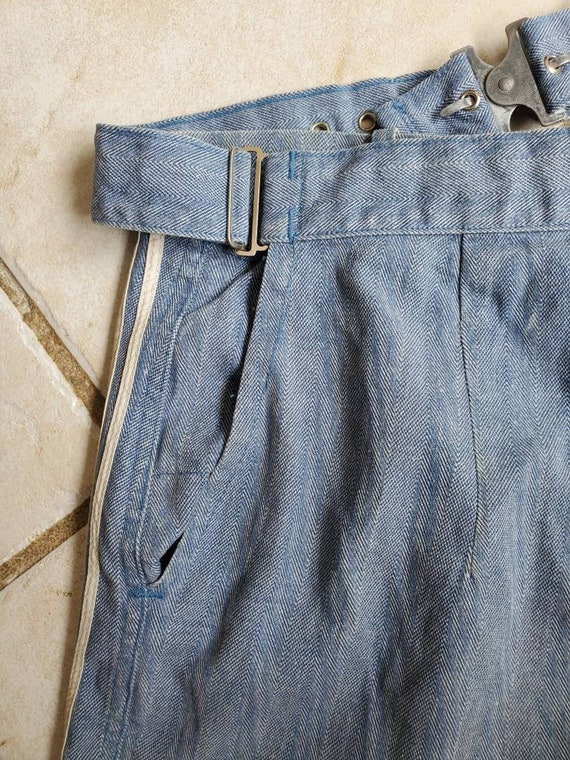 Rare 1930s 40s Denim Nautical Shorts • Vintage Sp… - image 7