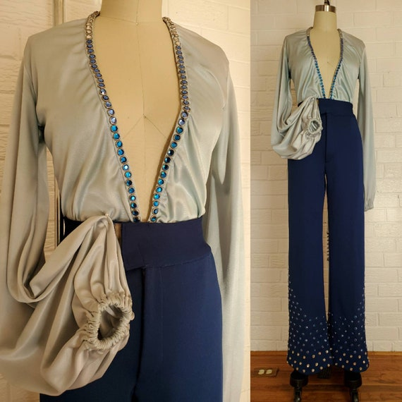 Vintage Disco Queen Outfit • Balloon Sleeve and Pl