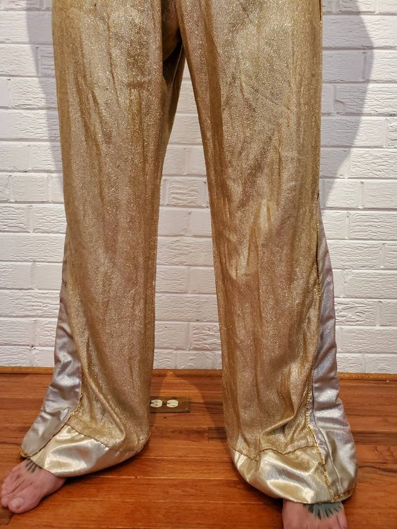 Disco Gold Lamé Jumpsuit • Elvis Costume - image 2