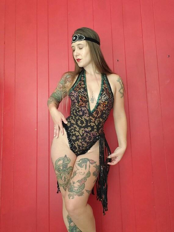 Vintage Cabaret Showgirl Stage Costume • Vegas Sho
