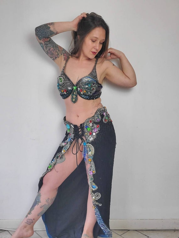 Vintage Handmade Belly Dance Costume • Bedazzled B