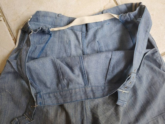 Rare 1930s 40s Denim Nautical Shorts • Vintage Sp… - image 8