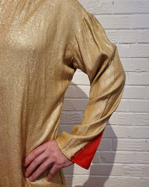 Disco Gold Lamé Jumpsuit • Elvis Costume - image 9
