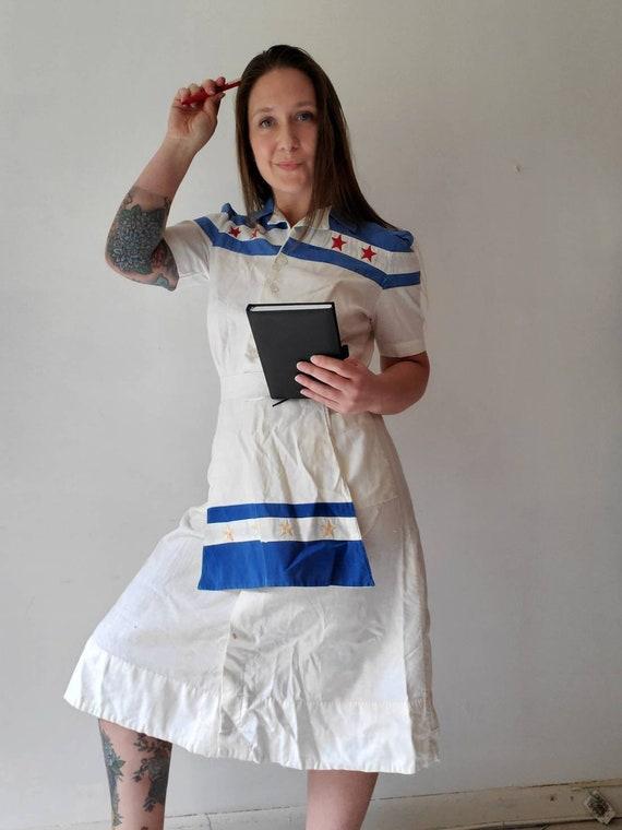 Vintage 1940s 50s Waitress Uniform • Waitress Dre… - image 1