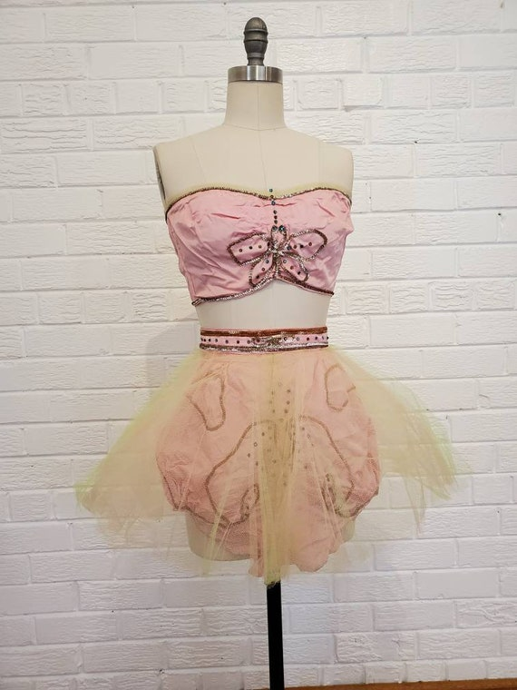 Vintage Pink Dance Costume • Cheesecake Pinup • 19