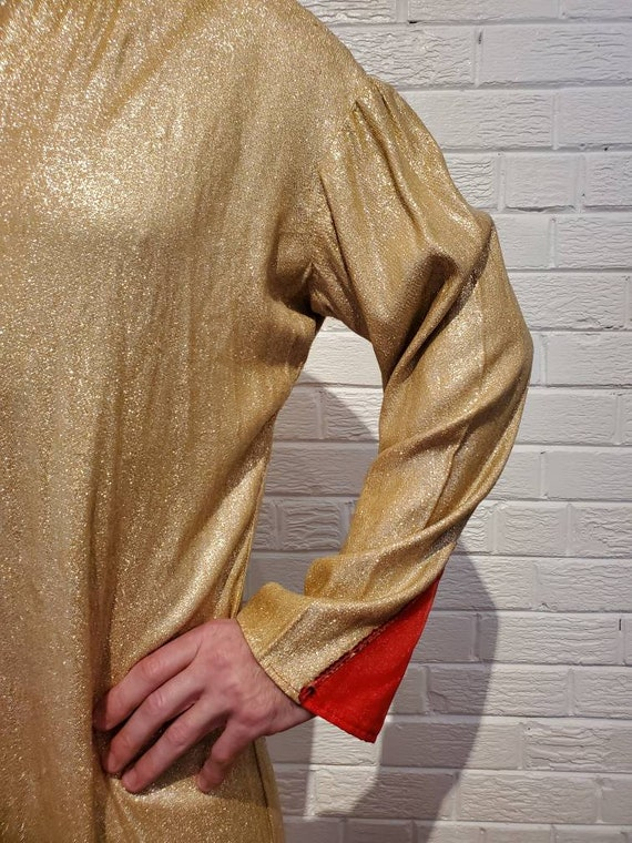 Disco Gold Lamé Jumpsuit • Elvis Costume - image 6