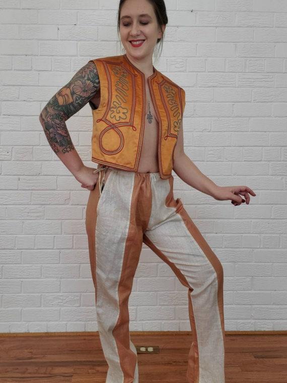 Size 14-16 Silver Lame Vest Vintage Vest Costume Vest Lined Vest Cosplay Vest