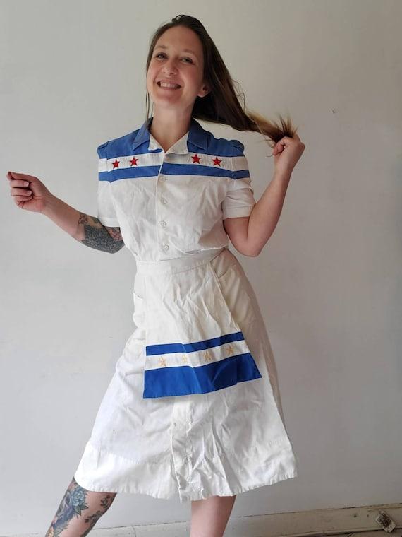 Vintage 1940s 50s Waitress Uniform • Waitress Dre… - image 3