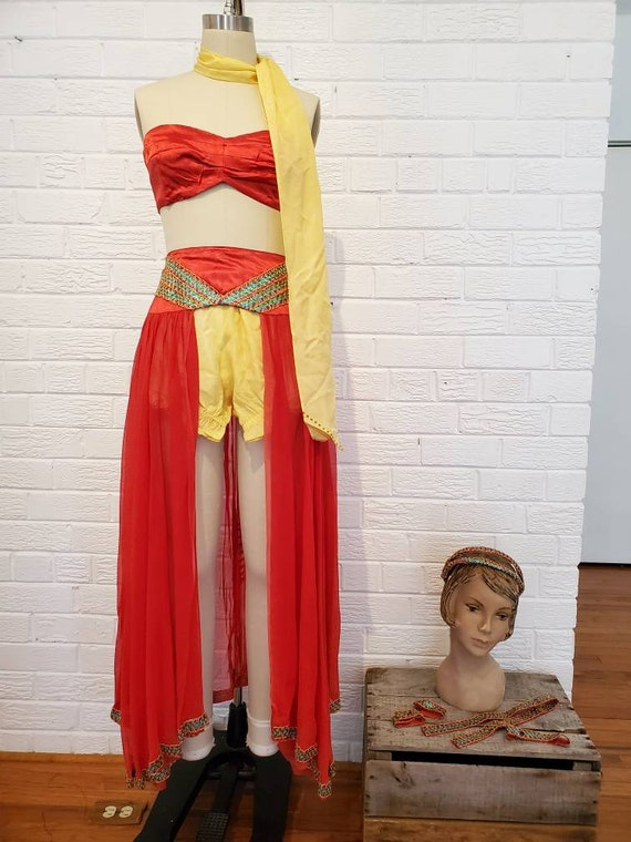 Vintage 1950s 60s Dance Costume • Burlesque Style