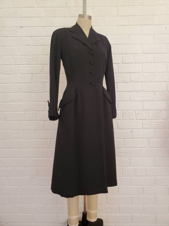 Vintage 1940s 50s Princess Coat • Swing Jacket • T