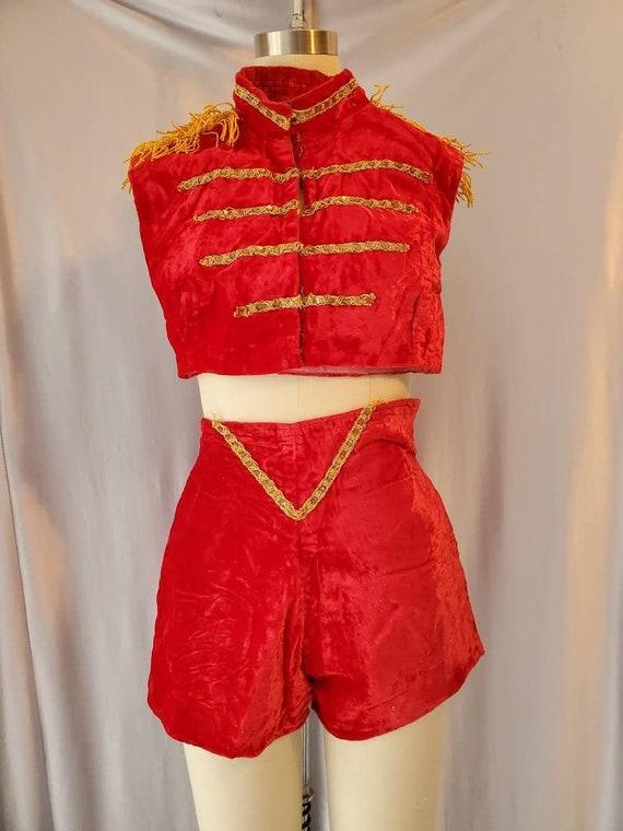 1950s Stage Costume 1950s Halloween Costume Performance Costume Vintage Halloween Costume Size Extra Small Majorette Costume
