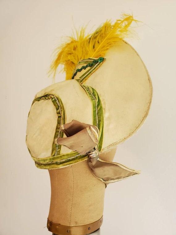 Reserved • Vintage Showgirl Costume Bonnet • Royal