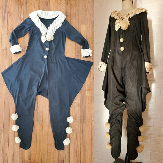 Vintage Pierrot Clown Jumpsuit • Pierrot Costume •