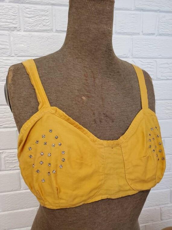 Vintage Handmade Rhinestone Bra Top • Burlesque Sh