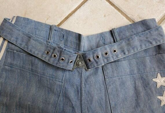 Rare 1930s 40s Denim Nautical Shorts • Vintage Sp… - image 2