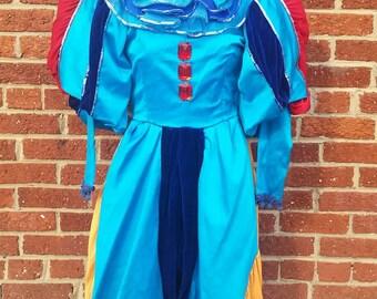 Vintage Womens Theater Jester Clown Costume // Mardi Gras Parade