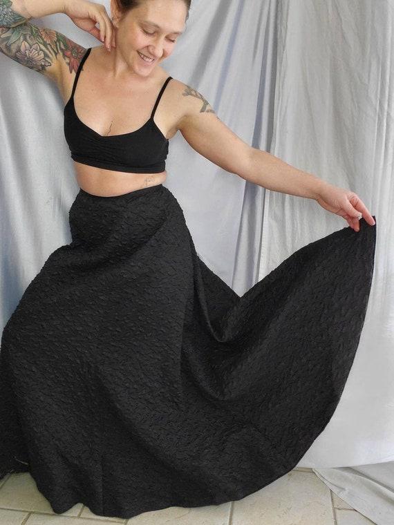 Victorian Winter Skirt • Heavy Textured Maxi Skirt