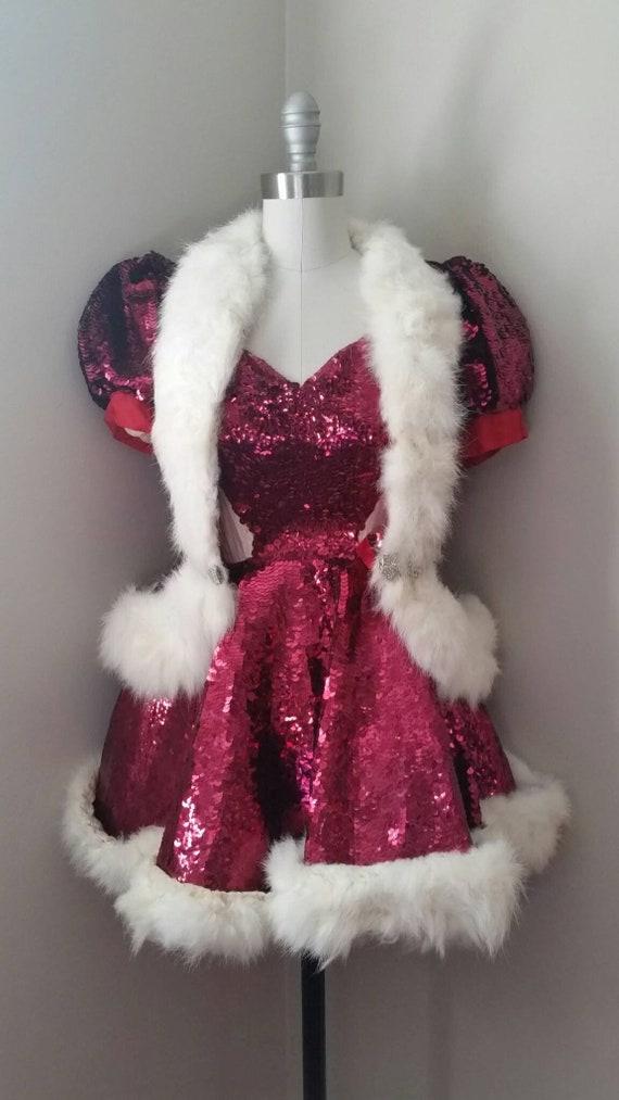Vintage 1940s Roller Skating Costume 》Red Sequin H
