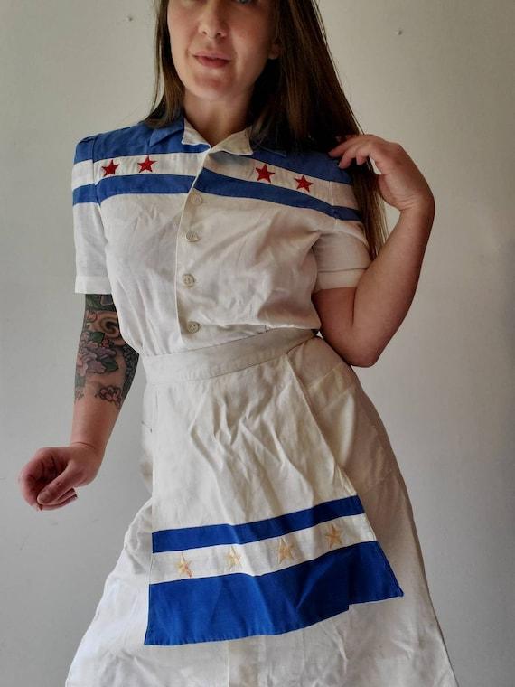 Vintage 1940s 50s Waitress Uniform • Waitress Dre… - image 5