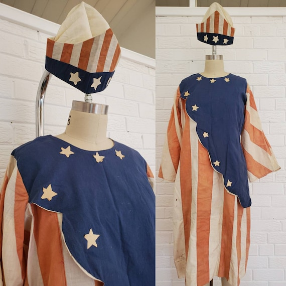 Antique Vintage Lady Liberty Costume • Patriotic C