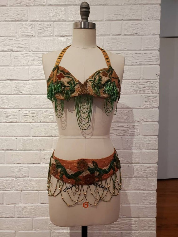 Gorgeous Vintage Beaded Belly Dance Costume • Burl