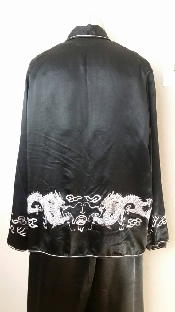 SALE! Vintage 1920s 30s Silk Dragon 3pc Pajama Se… - image 6