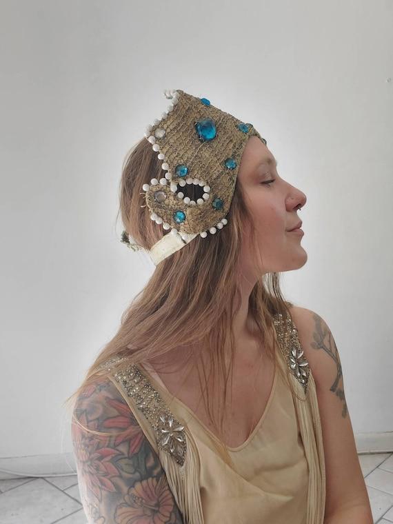 Antique Costume Headpiece • Vintage Showgirl Headd