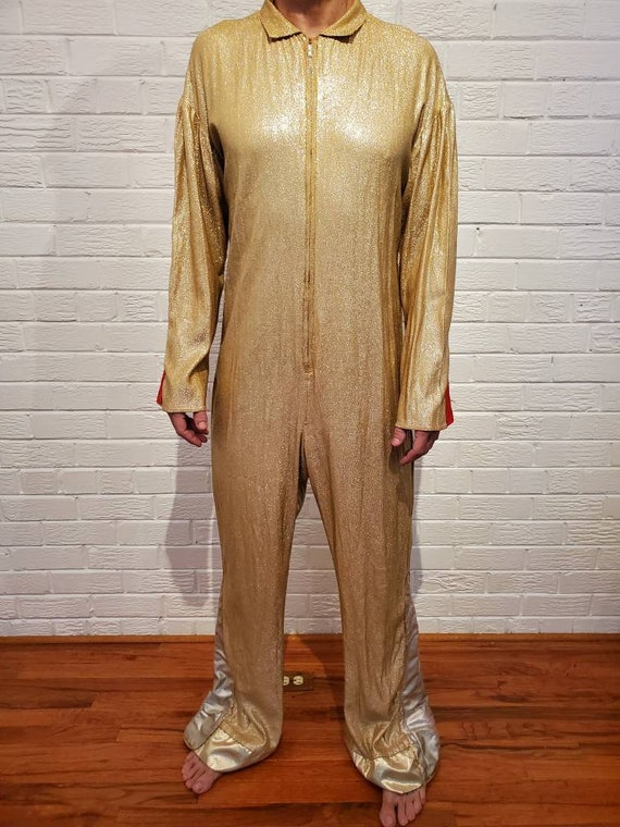 Disco Gold Lamé Jumpsuit • Elvis Costume - image 7