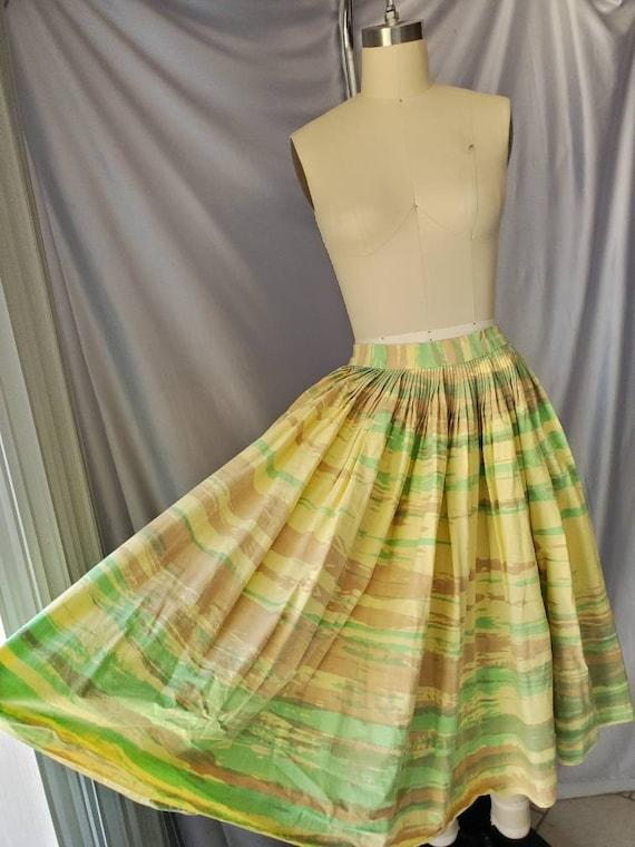 Vintage 1950s Spring Circle Skirt • Pale Yellow St