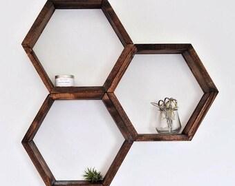 Hexagon Shelf Etsy