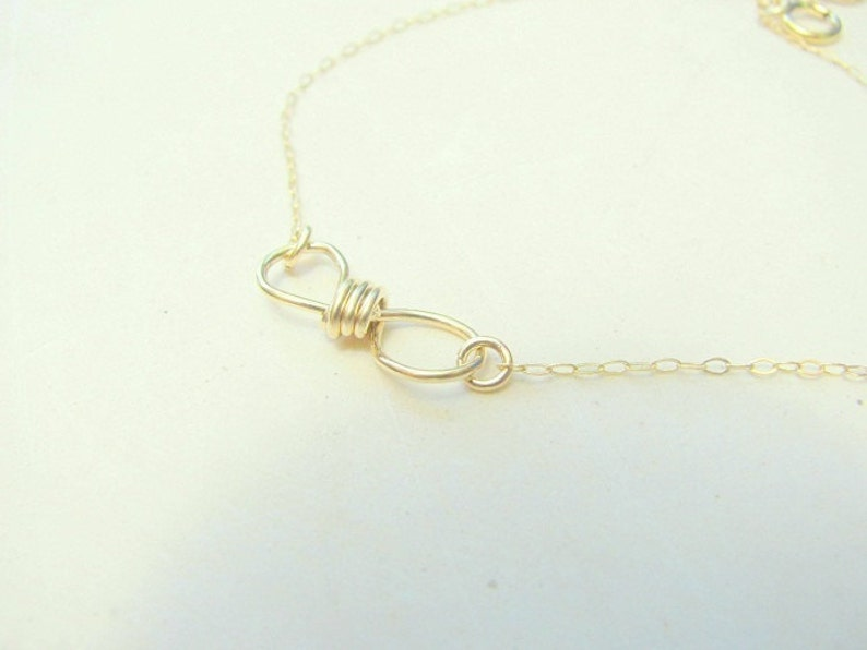 SALE Infinity necklace handmade gold promise statement best friends