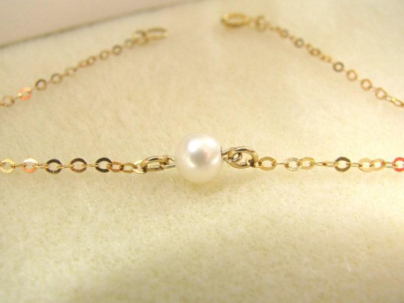 Dainty pearl bracelet SALE Pearl bracelet gold Freshwater white pearl Bridesmaids bracelet bridal jewelry