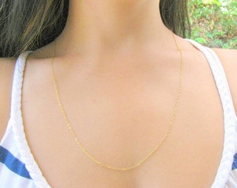 SALE - Long necklace - Long gold necklace - Thin Gold necklace - Dainty necklace - Layered necklace - Silver necklace long