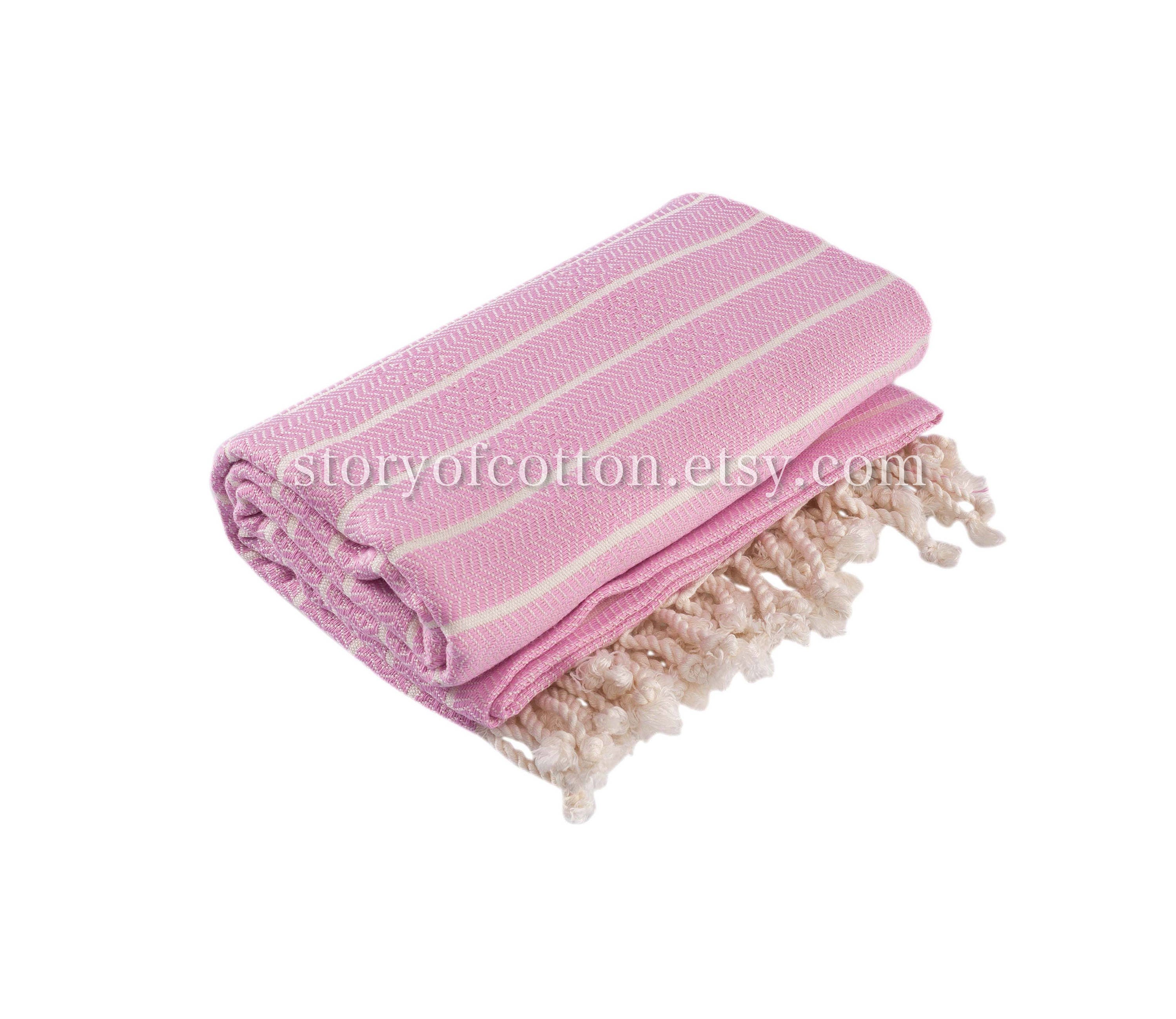 Bamboo Sauna Towels: Set Of 2 Bamboo Turkish Bath Towel Pestemal Fouta