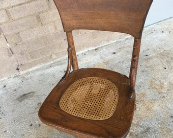 Vintage Solid Oak Desk Chair...free Shipping !!!